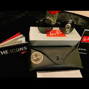Ray-Ban Accessories - 💥DEAL💥 NEW RAY-BAN BLUE-BLACK ROUND METAL 🕶
